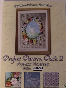 PROJECT PATTERN PACK 2 - PANSY FRAME WITH DVD BY CHRISTINE COLEMAN