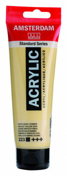 AMSTERDAM ACRYLIC PAINT -  NAPLES YELLOW DEEP 120ml