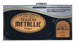 STAZON METALLIC COPPER  INK PAD AND RE-INKER