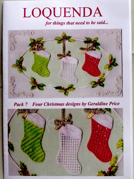 PATTERN PACK 7 CHRISTMAS DESIGNS  BY GERALDINE PRICE
