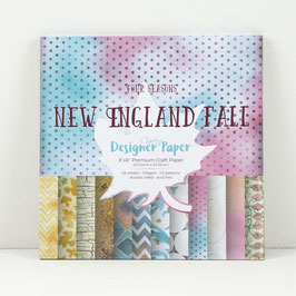 "NEW ENGLAND FALL DESIGNER PAPER 8"" X 8"" 48 SHEETS"