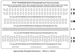 PCA TEMPLATE GUIDE PERFORATING OR PUNCH TOOL LINE GUIDE (BOLD)