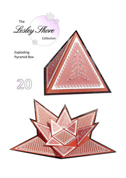 PATTERN PACK 20  'EXPLODING PYRAMID BOX'  BY LESLEY SHORE