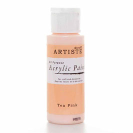 DOCRAFTS ARTISTE ACRYLIC PAINT 2OZ - TEA PINK