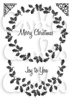MAJESTIX - HOLLY WREATH CLEAR STAMP SET