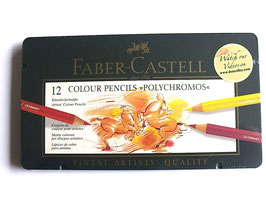FC POLYCHROMOS COLOUR PENCILS TIN OF 12