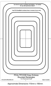 PCA EASY EMBOSSING TEMPLATE - ROUNDED RECTANGLES