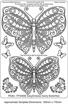 PCA TEMPLATE - SWIRLY BUTTERFLIES