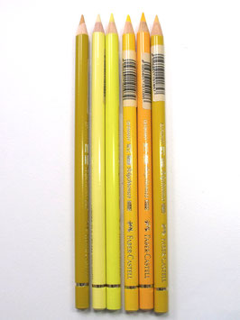 FABER CASTELL BUNDLE OF 6 YELLOW SELECTION