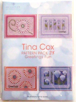PATTERN PACK 28 GREETINGS FUN BY TINA COX