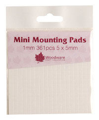 WOODWARE MINI MOUNTING PADS - 1MM - WHITE