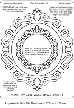 PCA TEMPLATE - EASYCUT ORNATE CIRCLE FRAMES 1