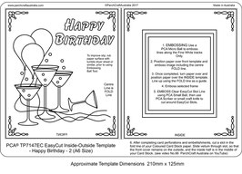 PCA TEMPLATE - EASY CUT INSIDE /OUTSIDE BIRTHDAY 2 (A6 SIZE)