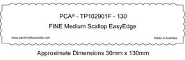 PCA TEMPLATE GUIDE FOR  130MM STRAIGHT EDGE SCALLOP (USE WITH FINE MEDIUM SCALLOP TOOL)