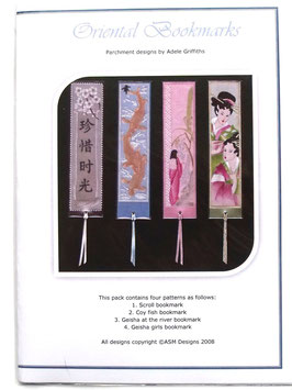 ORIENTAL BOOKMARKS PATTERN PACK BY ADELE