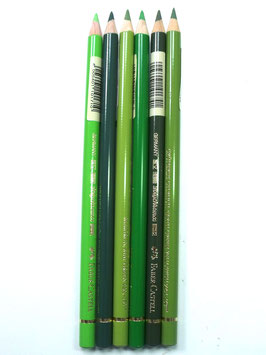 FABER CASTELL BUNDLE OF 6 GREEN SELECTION