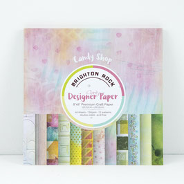 "BRIGHTON ROCK DESIGNER PAPER 8"" X 8"" 48 SHEETS"