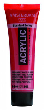 AMSTERDAM ACRYLICS 20ML - PERMANENT RED PURPLE