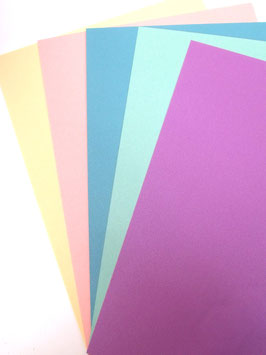 PEARLISED A4 CARD PACK (5 COLOURS)