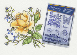JAYNE NESTORENKO FLORAL COLLECTION - ROSES  UNMOUNTED CLEAR STAMPS A5