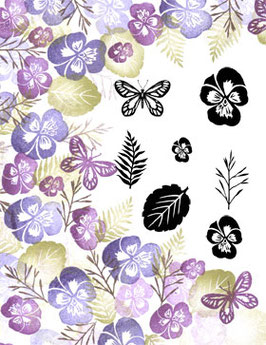 MAJESTIX PEG STAMPS - PLENTIFUL PANSIES