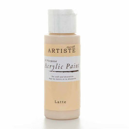 DOCRAFTS ARTISTE ACRYLIC PAINT 2OZ - LATTE
