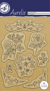 AURELIE CLEAR STAMPS - BOTANICAL GARDEN SET 2