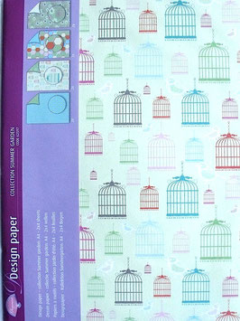PERGAMANO DESIGN PAPER SUMMER GARDEN COLLECTION 5 SHEETS