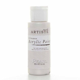 DOCRAFTS ARTISTE ACRYLIC PAINT 2OZ - PEARL MEDIUM