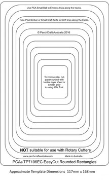 PCA EASY CUT TEMPLATE - ROUNDED RECTANGLE FRAMES