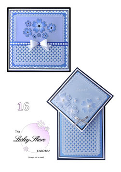 PATTERN PACK 16 FLORAL FANCY AND DIAMOND TOP BY LESLEY SHORE