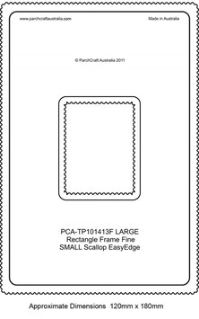 PCA TEMPLATE GUIDE FOR A LARGE SCALLOP EDGE RECTANGLE (FINE)