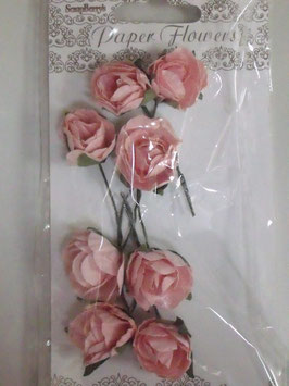 SCRAPBERRY'S PAPER FLOWERS -ROSE- PINK