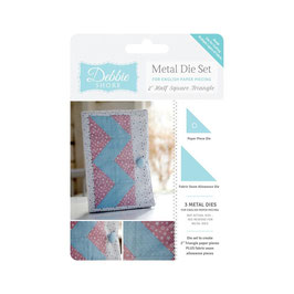 DEBBIE SHORE METAL DIE SET - HALF SQUARE TRIANGLE