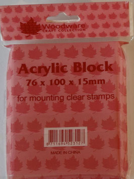 WOODWARE ACRYLIC BLOCK 76 X 100 X 15mm