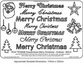 PCA WORD TEMPLATE  'MERRY CHRISTMAS' OUTLINES BOLD