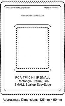 PCA TEMPLATE GUIDE FOR A SMALL SCALLOP EDGE RECTANGLE (FINE)