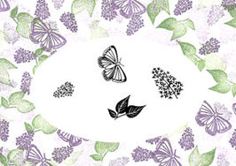 MAJESTIX PEG STAMPS - LOVELY LILACS