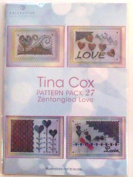 PATTERN PACK 27 ZENTANGLED LOVE BY TINA COX