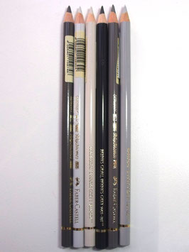 FABER CASTELL BUNDLE OF 6 GREY SELECTION