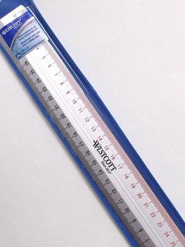 WESTCOTT CUTTING RULER 30cm WITH ANTI SLIP