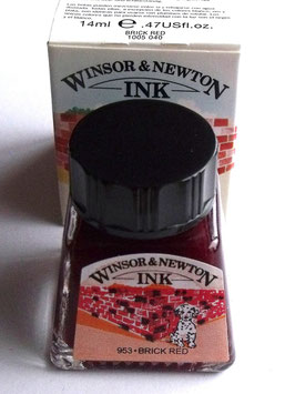 WINSOR AND NEWTON INK - BRICK RED 14ml