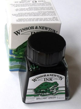 WINSOR AND NEWTON INK - BRILLIANT GREEN 14ml