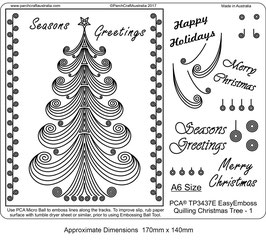 PCA TEMPLATE - QUILLING CHRISTMAS TREE 1 (A6 SIZE)