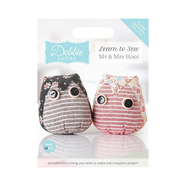 DEBBIE SHORE LEARN TO SEW - MR AND MRS HOOT