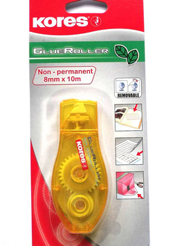 KORES GLUE ROLLER NON-PERMANENT YELLOW 10M