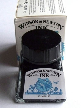 WINSOR AND NEWTON INK - BLUE 14ml