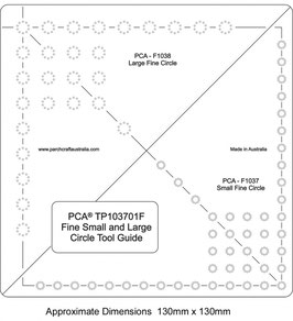 PCA TEMPLATE GUIDE FOR FINE CIRCLE TOOLS (SMALL AND LARGE)