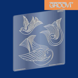 GROOVI PLATE - THREE DOVES