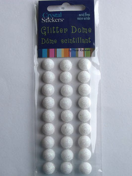 GLITTER DOME - 10MM WHITE